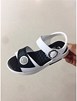 cheap -Girls' Shoes PU Summer Comfort Sandals for Casual White Black Pink