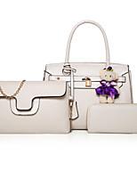cheap -Women's Bags PU Bag Set 3 Pcs Purse Set Bow(s) for Casual Gold / White / Black