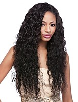 cheap -Remy Human Hair Wig Peruvian Hair Curly Layered Haircut 130% Density With Baby Hair For Black Women Black Short Long Mid Length Women's