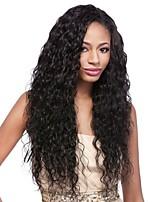 Недорогие -Remy Парик Перуанские волосы Кудрявый Стрижка каскад 130% плотность С детскими волосами Для темнокожих женщин Черный Короткие Длинные