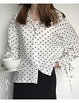 cheap -Women's Vintage Blouse - Solid Colored, Pleated