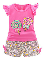 cheap -Kids Girls' Print Sleeveless Clothing Set