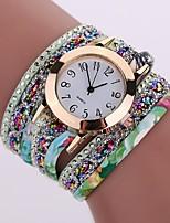 baratos -Mulheres Quartzo Simulado Diamante Relógio Bracele Relógio Relógio Casual Chinês imitação de diamante Relógio Casual PU Banda Casual