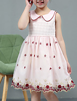cheap -Girl's Daily Holiday Polka Dot Dress, Cotton Summer Sleeveless Cute Active Blushing Pink Beige