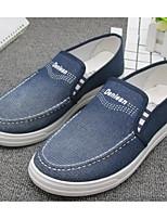 Недорогие -Муж. обувь Полотно Весна Осень Удобная обувь Мокасины и Свитер для Повседневные Серый Синий