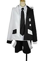 baratos -Inspirado por Dangan Ronpa Fantasias Anime Fantasias de Cosplay Ternos de Cosplay Outro Manga Longa Casaco Camisa Gravata Calções Para