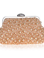 cheap -Women's Bags Terylene Evening Bag Crystals / Pearls / Flower for Event / Party White / Black / Almond