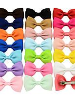 Недорогие -Зажим Аксессуары для волос Шёлковая ткань рипсового переплетения парики Аксессуары Девочки 20pcs штук 1-4 дюйм см Для вечеринок