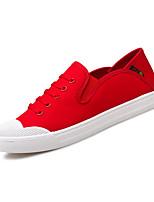 Недорогие -Муж. обувь Ткань Весна / Осень Удобная обувь Кеды Черный / Красный