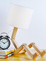 Недорогие -Художественный Регулируется Настольная лампа Назначение Дерево / бамбук Белый