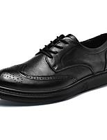 Недорогие -Муж. обувь Кожа Весна Осень Формальная обувь Туфли на шнуровке Для прогулок для Повседневные Для вечеринки / ужина Черный