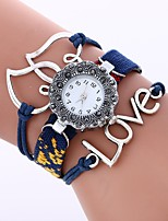cheap -Women's Quartz Fashion Watch Chinese Large Dial Fabric Band Heart shape Fashion Black White Blue Brown Pink Rose