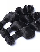 Недорогие -3 Связки Бразильские волосы Свободные волны 8A Натуральные волосы Плетение 20 дюймовый Естественный цвет Ткет человеческих волос Расширения человеческих волос Жен.