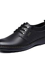 baratos -Homens sapatos Pele Primavera Outono Sapatos formais Conforto Oxfords para Casual Escritório e Carreira Preto Marron