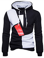 cheap -Men's Street chic Hoodie - Color Block