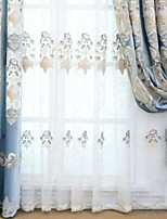 baratos -Sheer Curtains Shades Sala de Estar Floral Geométrica Algodão / Poliéster Jacquard