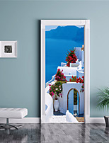 cheap -Wall Decal Door Stickers - 3D Wall Stickers Landscape 3D Re-Positionable Removable