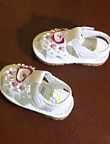 cheap -Girls' Shoes PU Summer First Walkers Comfort Sandals for Casual White Light Purple Pink