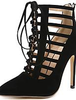 abordables -Femme Chaussures Fourrure Eté / Automne Gladiateur / Escarpin Basique Chaussures à Talons Talon Aiguille Noir / Soirée & Evénement