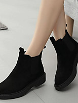 cheap -Women's Shoes Flocking Spring Fall Comfort Boots Low Heel for Black