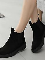 baratos -Mulheres Sapatos Flocagem Primavera Outono Conforto Botas Salto Baixo para Preto