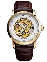 cheap -Men's Automatic self-winding Mechanical Watch Skeleton Watch Sport Watch Japanese Calendar / date / day Chronograph Large Dial Genuine