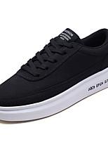 Недорогие -Муж. обувь Ткань Весна Осень Удобная обувь Кеды для Повседневные Белый Черный