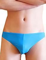 abordables -Homme G-string Sous-vêtements Slips Couleur Pleine Taille Normale