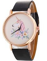 baratos -Mulheres Quartzo Único Criativo relógio Relógio de Moda Relógio Casual Chinês Relógio Casual PU Banda Casual Fashion Preta Branco Prata