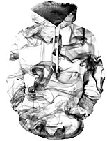 cheap -Men's Street chic Hoodie - Geometric