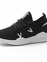 cheap -Women's Shoes PU Summer Comfort Sneakers Low Heel Round Toe for White Black Pink