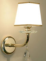 Недорогие -Хрусталь Простой Освещение ванной комнаты Назначение Гостиная Хрусталь настенный светильник 220-240Вольт 40W