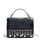 cheap -Women's Bags PU Shoulder Bag Zipper for Casual All Seasons Blue Black Blushing Pink Purple
