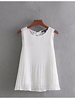 cheap -Women's Vintage Tank Top - Solid Colored, Tassel