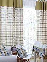 preiswerte -Vorhänge drapiert Wohnzimmer Gitter Zeitgenössisch Baumwolle / Polyester Bedruckt