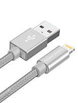 cheap -Lightning USB Cable Adapter Quick Charge High Speed Cable For iPhone 180cm Nylon