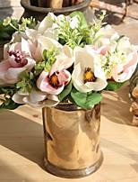abordables -Fleurs artificielles 6 Une succursale style pastoral / Mariage Orchidées Fleur de Table