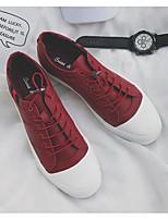 Недорогие -Муж. обувь Кожа Весна / Осень Удобная обувь Кеды Белый / Черный / Красный