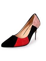 abordables -Femme Chaussures Gomme Printemps Confort Chaussures à Talons Talon Bas Bout pointu Beige / Rouge