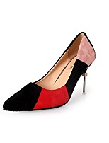 preiswerte -Damen Schuhe Gummi Frühling Komfort High Heels Niedriger Heel Spitze Zehe Beige / Rot