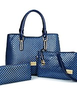 cheap -Women's Bags PU Bag Set 3 Pcs Purse Set Zipper for Office & Career Yellow / Coffee / Wine