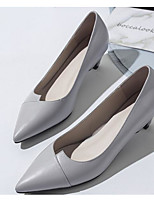cheap -Women's Shoes Nappa Leather / Cowhide Spring / Fall Comfort Heels Stiletto Heel White / Black / Gray