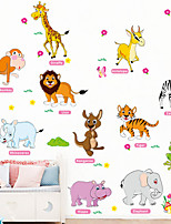 cheap -Wall Decal Decorative Wall Stickers - Animal Wall Stickers Animals Floral / Botanical Re-Positionable Removable