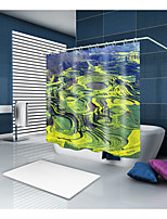 cheap -Shower Curtains & Hooks Classic Country Polyester Solid Colored Novelty Machine Made Waterproof Bathroom