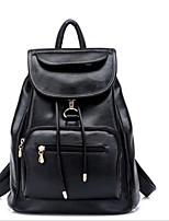 cheap -Women's Bags PU Backpack Zipper for Casual Brown / Sky Blue / Khaki