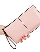 Недорогие -Жен. Мешки Полиуретан Бумажники Молнии для на открытом воздухе Все сезоны Розовый Тёмно-синий