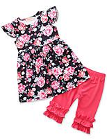 Недорогие -Дети Дети (1-3 лет) Девочки С принтом Жаккард Без рукавов Набор одежды