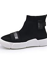 Недорогие -Муж. обувь Трикотаж Весна / Лето Удобная обувь Кеды Черный