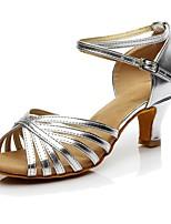 abordables -Mujer Zapatos de Baile Latino Sintético Tacones Alto Tacón Personalizado Personalizables Zapatos de baile Plata / Interior