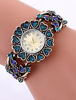 baratos -Mulheres Quartzo Relógio de Moda Chinês imitação de diamante Lega Banda Heart Shape Casual Dourada